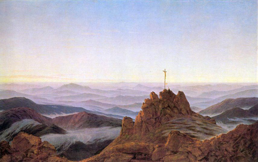 Caspar-David-Friedrich-Ochtend-in-het-Riesengebirge
